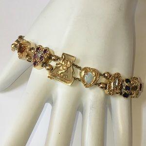 Jewelry - 14K 10K Slide Bracelet & Charms Alabama Roll Tide